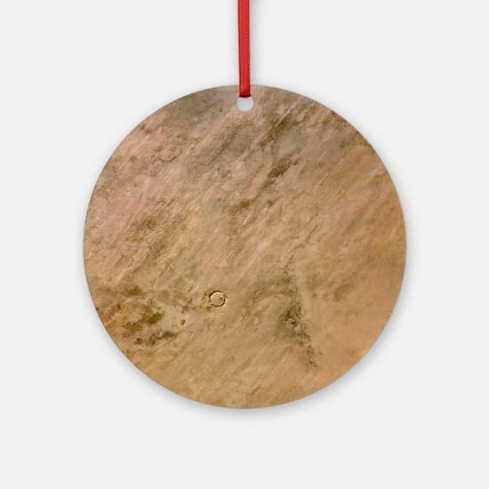 Tenoumer Crater, satellite image - Round Ornament