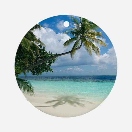 Tropical beach - Round Ornament