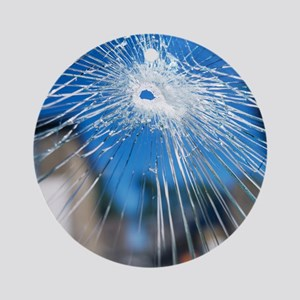 Broken glass - Round Ornament
