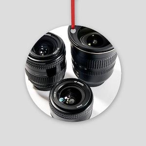 Camera lenses - Round Ornament