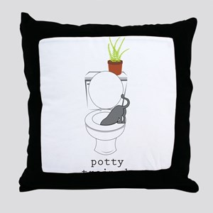 Potty Trained Throw Pillow