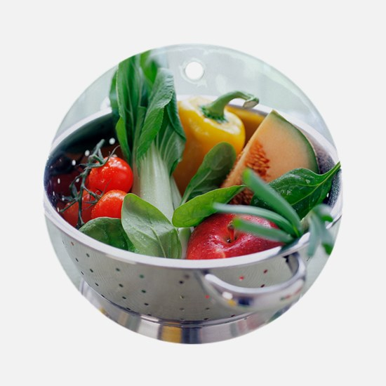 Fruit and vegetables - Round Ornament