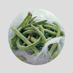 Green beans - Round Ornament