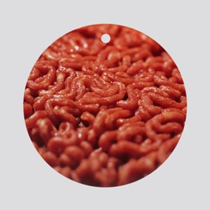Minced beef - Round Ornament