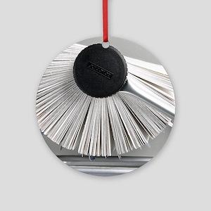Rolodex - Round Ornament