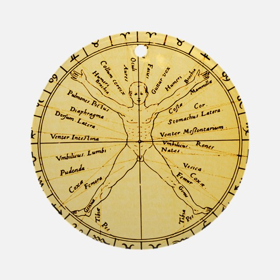 Astrological anatomy - Round Ornament