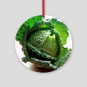 Savoy cabbage - Round Ornament
