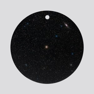 Andromeda starfield - Round Ornament