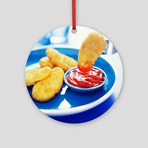 Chicken nuggets - Round Ornament