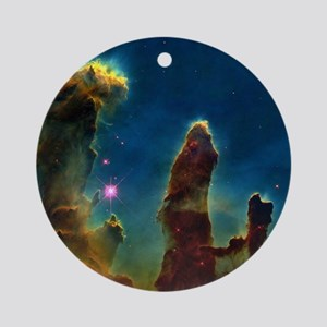 Gas pillars in the Eagle Nebula - Round Ornament