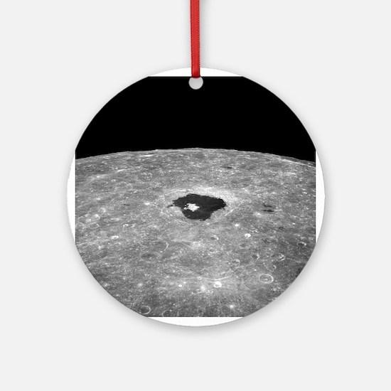 Lunar far side crater Tsiolkovsky - Round Ornament