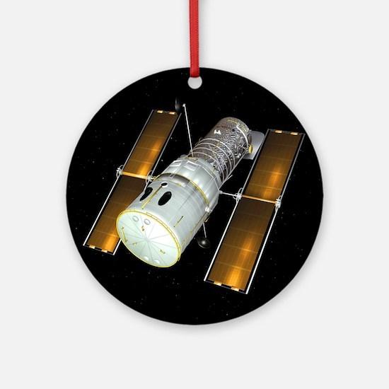 Hubble Space Telescope, artwork - Round Ornament