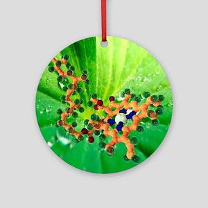 Chlorophyll molecule - Round Ornament