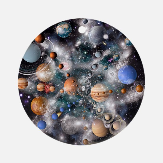 Solar system planets - Round Ornament