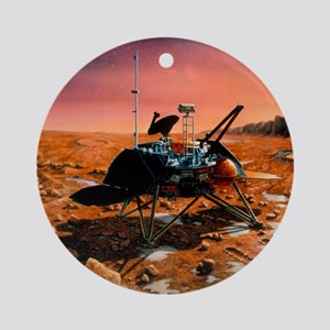 Artwork of Mars Polar Lander on surface of Mars -