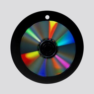 Compact disc with light interference patterns - Ro