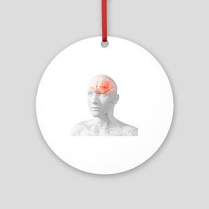 Headache, conceptual artwork - Round Ornament