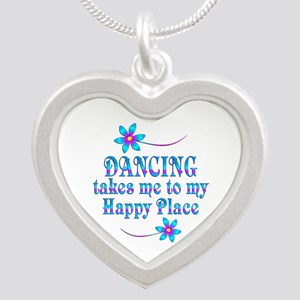Dancing My Happy Place Silver Heart Necklace