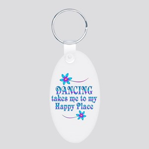 Dancing My Happy Place Aluminum Oval Keychain