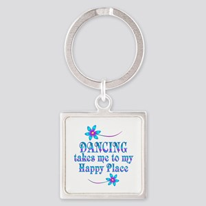 Dancing My Happy Place Square Keychain