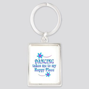 Dancing My Happy Place Portrait Keychain