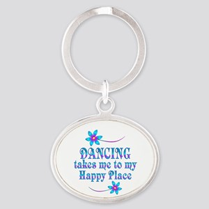 Dancing My Happy Place Oval Keychain