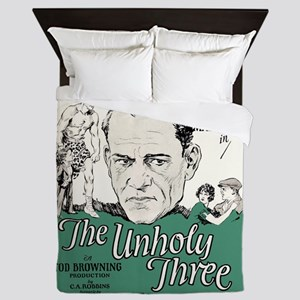 the unholy three Queen Duvet