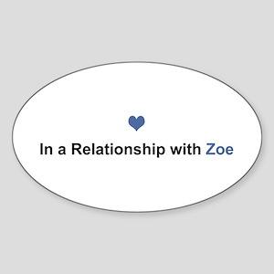 Zoe Relationship Oval Sticker