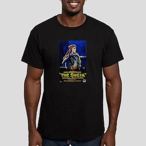 rudolph valentino Men's Fitted T-Shirt (dark)