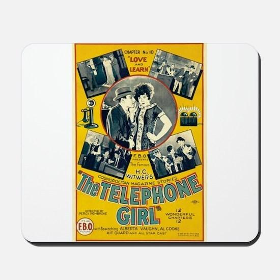 the telephone girl Mousepad