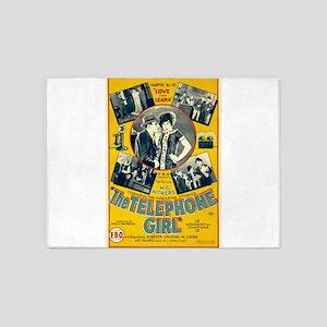 the telephone girl 5'x7'Area Rug