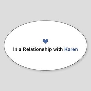 Karen Relationship Oval Sticker