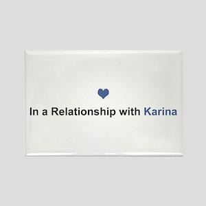 Karina Relationship Rectangle Magnet