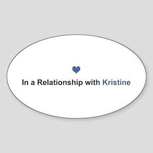 Kristine Relationship Oval Sticker
