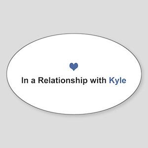 Kyle Relationship Oval Sticker