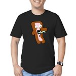 Bacon Zombie Men's Fitted T-Shirt (dark)