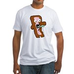 Bacon Zombie Fitted T-Shirt