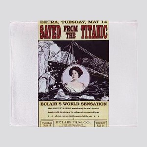 saved from the titanic Throw Blanket