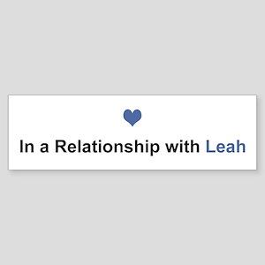 Leah Relationship Bumper Sticker