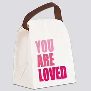 You Are Loved Canvas Lunch Bag