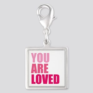 You Are Loved Silver Square Charm