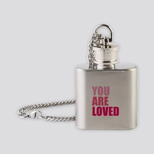 You Are Loved Flask Necklace