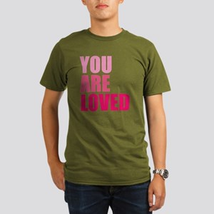 You Are Loved Organic Men's T-Shirt (dark)