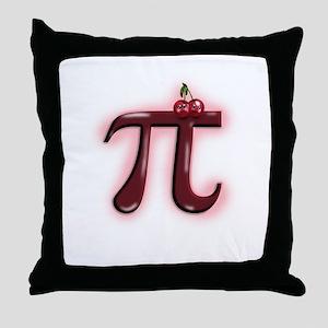 Cute Cherry Pi Throw Pillow