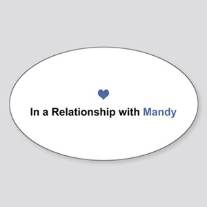 Mandy Relationship Oval Sticker