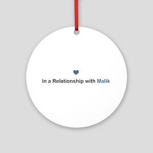 Malik Relationship Round Ornament