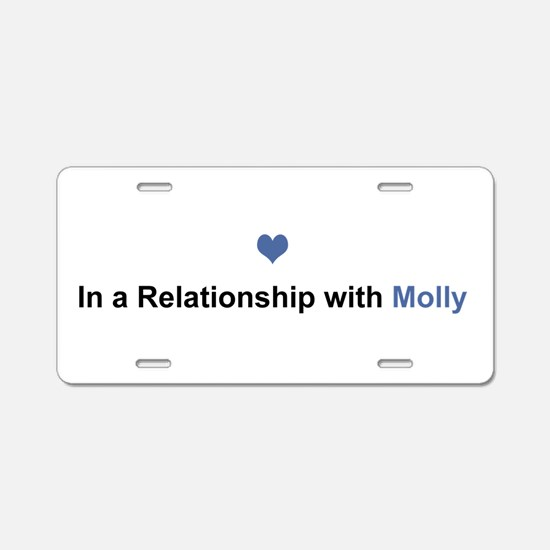 Molly Relationship Aluminum License Plate