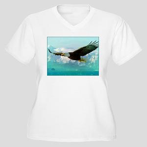 soaring eagle Women's Plus Size V-Neck T-Shirt