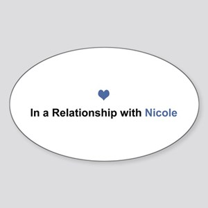 Nicole Relationship Oval Sticker