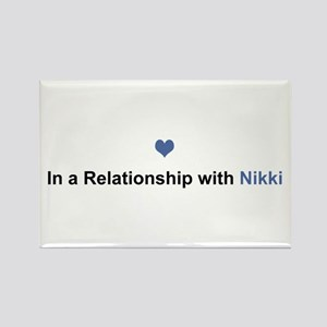 Nikki Relationship Rectangle Magnet